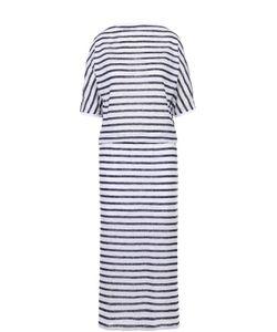 Tegin | Приталенное Платье В Полоску С V-Образным Вырезом На Спинке