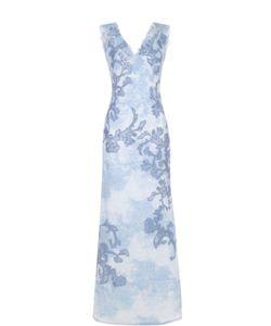 Tadashi Shoji | Кружевное Платье-Макси С V-Образным Вырезом