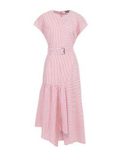 Rachel Comey | Платье Асимметричного Кроя В Полоску С Поясом