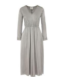 Forte Forte | Приталенное Платье-Миди С V-Образным Вырезом