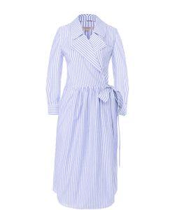 Burberry | Приталенное Платье-Рубашка В Полоску