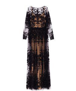 Zuhair Murad | Приталенное Платье-Макси С Контрастной Вышивкой