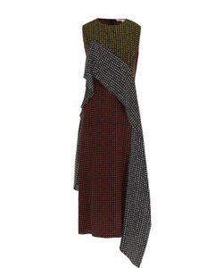 Diane Von Furstenberg | Шелковое Платье В Горох С Оборкой