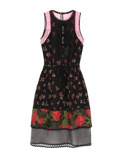 COACH | Платье-Миди С Кружевными И Полупрозрачными Вставками