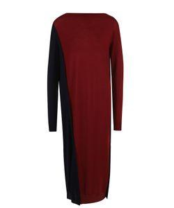 Marni | Шерстяное Платье-Миди Прямого Кроя