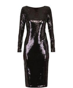 Tom Ford | Платье-Футляр С Пайетками И Открытой Спиной