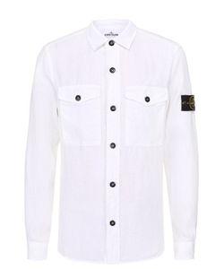 Stone Island | Льняная Рубашка С Воротником Кент