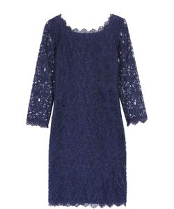 Diane Von Furstenberg | Кружевное Мини-Платье С Укороченным Рукавом