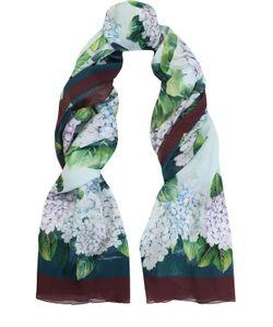 Dolce & Gabbana | Шелковый Шарф С Цветочным Принтом