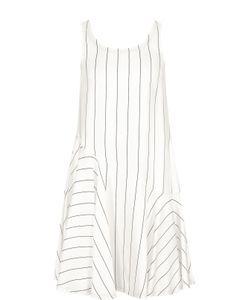 Giorgio Armani | Мини-Платье В Полоску С Оборкой