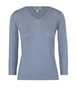 Armani Collezioni | Шелковый Пуловер С V-Образным Вырезом И Укороченным Рукавом