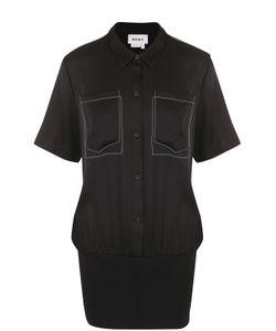 DKNY   Шелковая Блуза С Накладными Карманами
