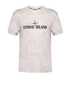 Stone Island | Хлопковая Футболка С Принтом