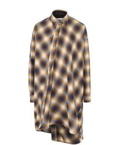 MM6 by Maison Margiela | Удлиненная Блуза Свободного Кроя В Клетку