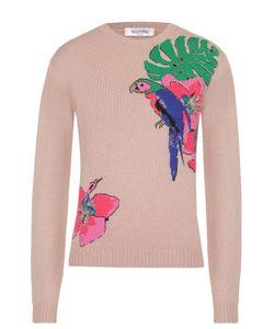 Valentino | Кашемировый Пуловер Прямого Кроя С Контрастной Вышивкой