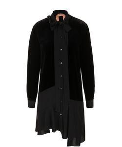 No. 21 | Платье-Рубашка Асимметричного Кроя С Воротником Аскот