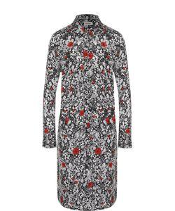 Zadig & Voltaire | Платье-Рубашка Прямого Кроя С Контрастным Цветочным Принтом Zadigvoltaire