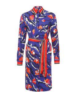 Emilio Pucci | Платье-Рубашка С Поясом И Контрастным Принтом