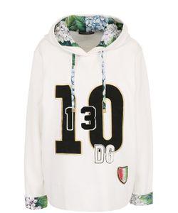 Dolce & Gabbana | Толстовка С Капюшоном И Контрастной Отделкой