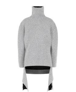 Balenciaga | Свитер Свободного Кроя С Металлизированной Отделкой