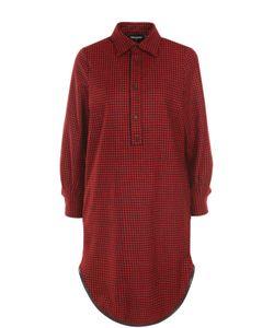 Dsquared2 | Шерстяное Платье-Рубашка В Клетку
