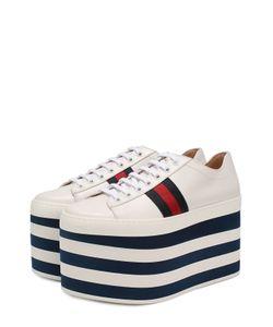 Gucci | Кожаные Кеды Peggy На Платформе