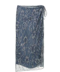 Polo Ralph Lauren | Юбка-Миди С Разрезом И Вышивкой Пайетками