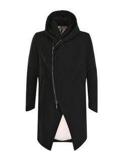 Masnada | Пальто Из Смеси Шерсти И Льна На Молнии С Капюшоном