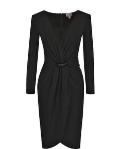 Armani Collezioni | Приталенное Платье-Миди С V-Образным Вырезом И Драпировкой