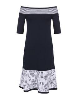 D.exterior | Вязаное Платье-Миди С Открытыми Плечами