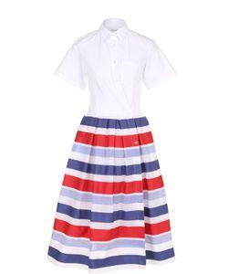 SARA ROKA | Платье-Рубашка С Пышной Юбкой В Контрастную Полоску