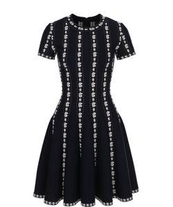 Alaïa | Приталенное Мини-Платье С Коротким Рукавом