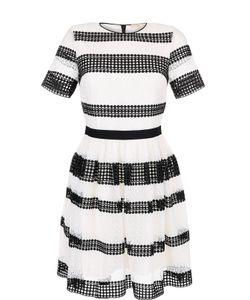 Michael Michael Kors | Приталенное Платье С Контрастной Кружевной Отделкой