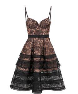 SELF-PORTRAIT | Приталенное Кружевное Платье-Миди