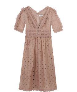 Zimmermann | Кружевное Приталенное Платье С V-Образным Вырезом