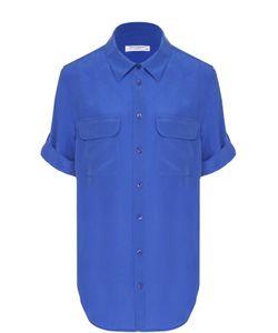 Equipment | Шелковая Блуза С Коротким Рукавом И Накладными Карманами