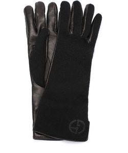 Giorgio Armani | Кожаные Перчатки С Отделкой Из Кашемира