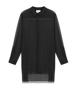 DKNY   Прозрачная Блуза С Удлиненной Спинкой