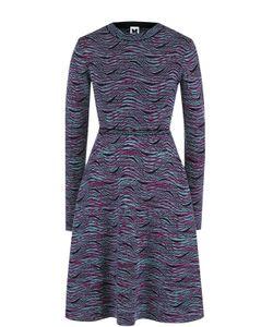 Missoni | Вязаное Мини-Платье С Длинным Рукавом M