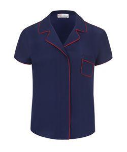 Red Valentino | Шелковая Блуза В Пижамном Стиле С Контрастной Отделкой Redvalentino
