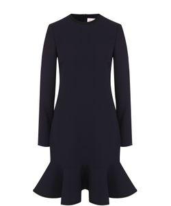 Victoria, Victoria Beckham   Мини-Платье С Оборкой И Длинным Рукавом