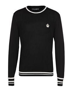 Dolce & Gabbana | Шерстяной Джемпер С Контрастной Отделкой