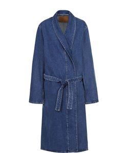 Balenciaga | Джинсовое Пальто Прямого Кроя С Поясом