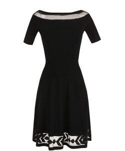 D.exterior | Приталенное Платье-Миди С Полупрозрачной Вставкой