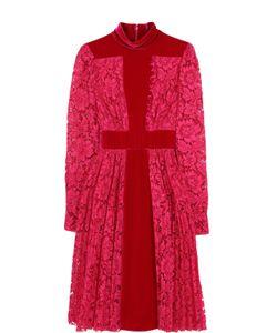 Valentino | Кружевное Приталенное Платье-Миди