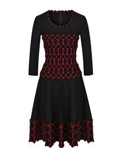 Alaïa | Приталенное Мини-Платье С Укороченным Рукавом