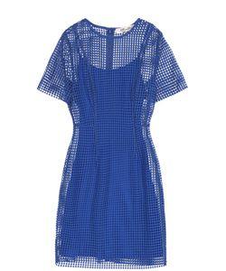 Diane Von Furstenberg | Кружевное Мини-Платье С Коротким Рукавом