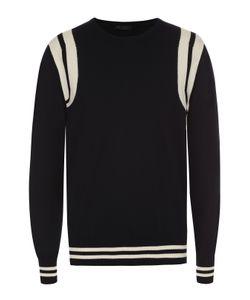 Calvin Klein Collection   Хлопковый Джемпер С Контрастной Отделкой
