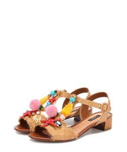 Dolce & Gabbana | Плетеные Босоножки С Декором