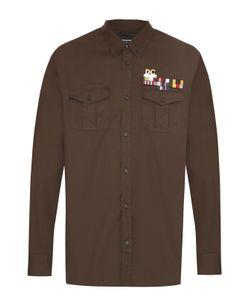 Dsquared2 | Хлопковая Рубашка С Воротником Button Down И Декоративными Брошами